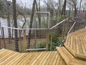 Stainless Steel Cable Railing, Fireman's Pole and Gate